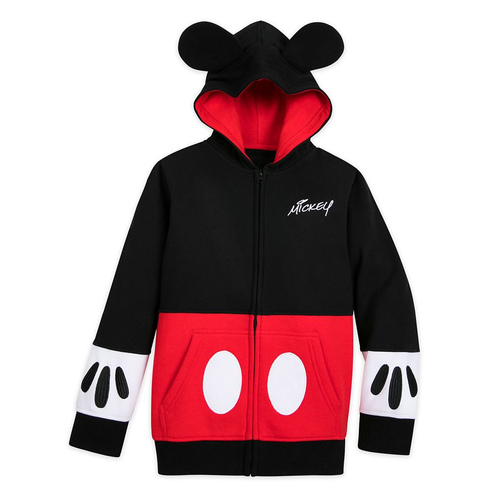 Mickey Mouse Costume Zip Hoodie for Kids