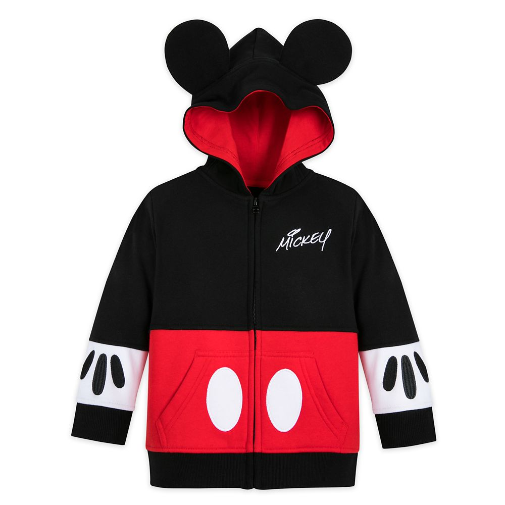 Mickey Mouse Costume Zip Hoodie for Toddlers