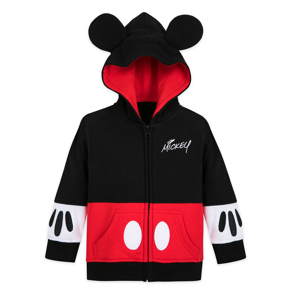 Mickey Mouse Costume Zip Hoodie for Baby