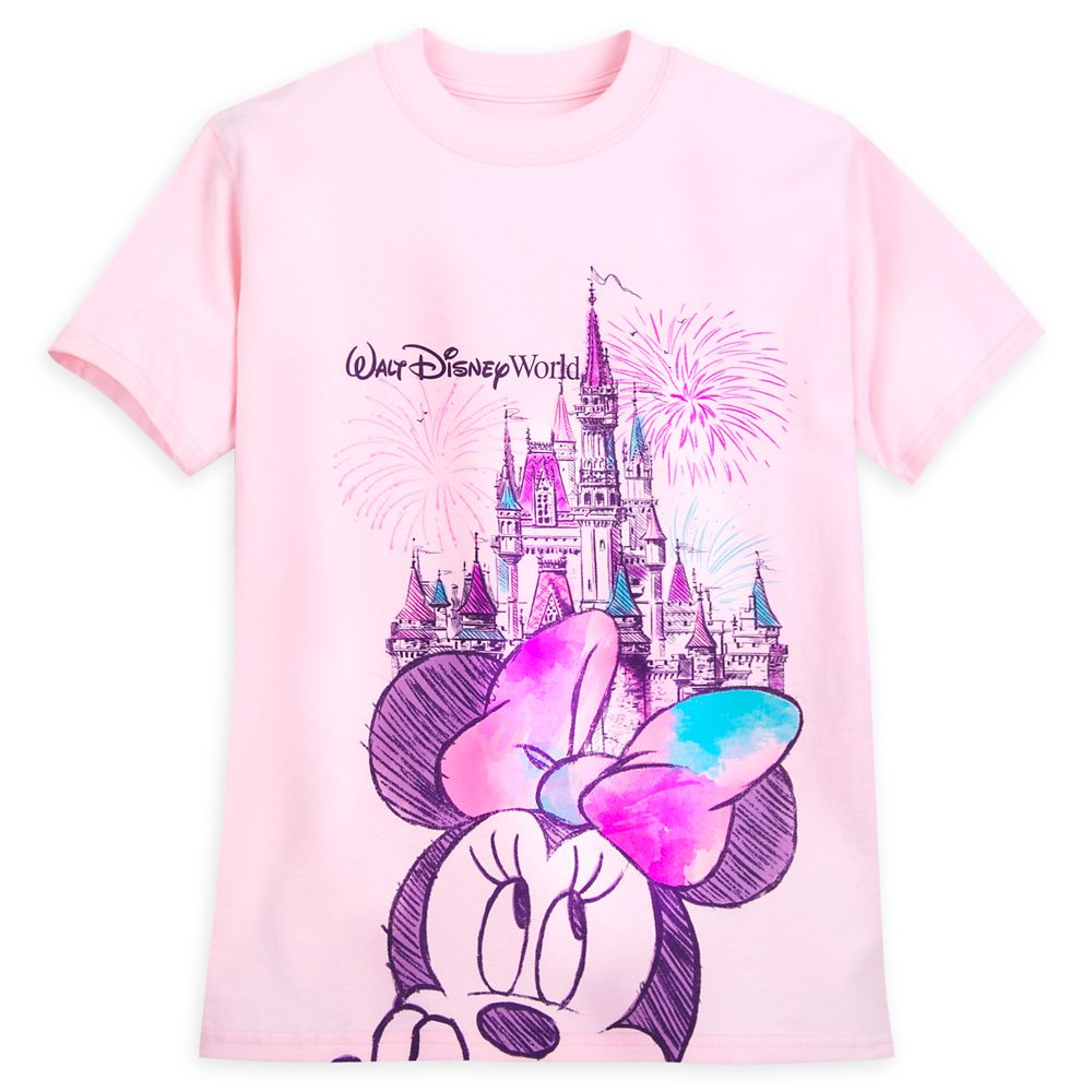 Minnie Mouse Cinderella Castle Sketch T-Shirt for Girls – Walt Disney World