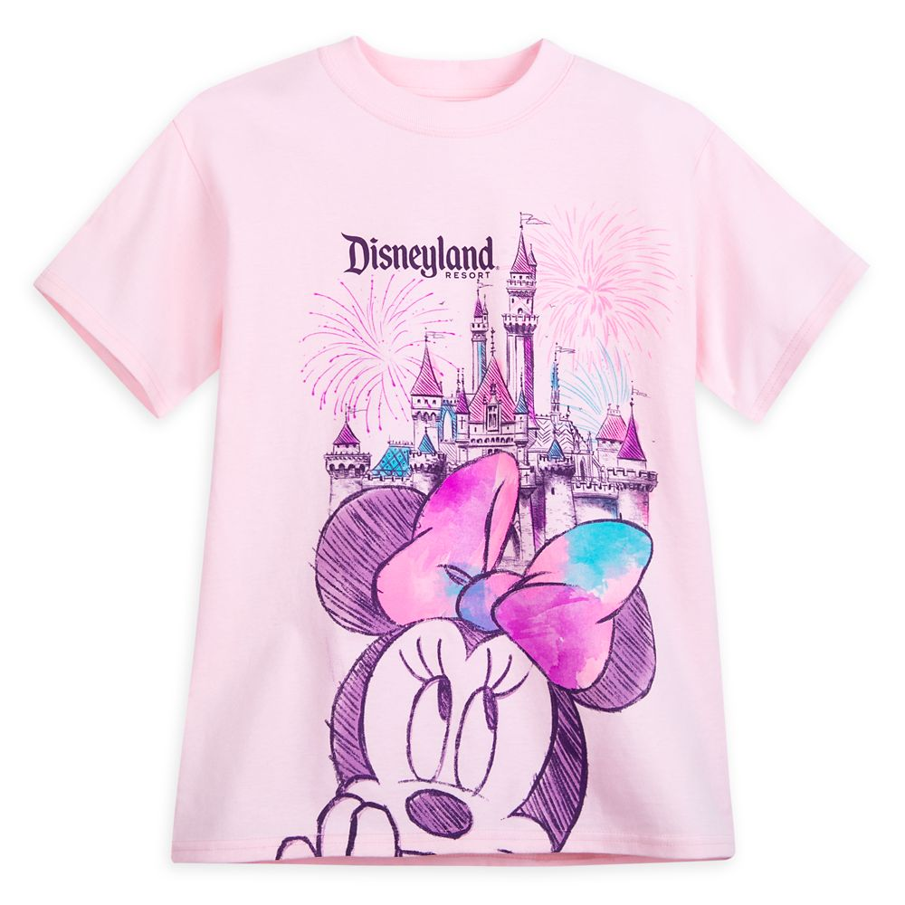Minnie Mouse Sleeping Beauty Castle Sketch T-Shirt for Girls – Disneyland
