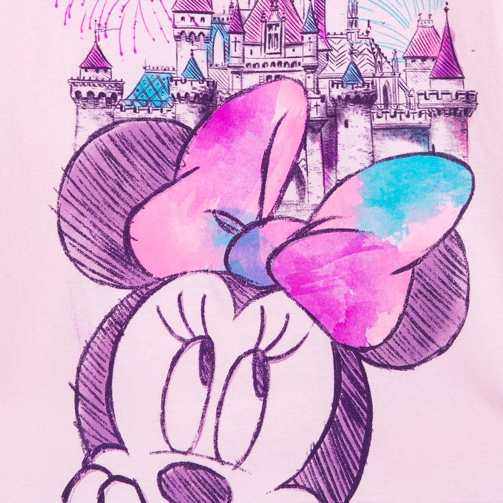 Minnie Mouse Sleeping Beauty Castle Sketch T-Shirt for Girls – Disneyland