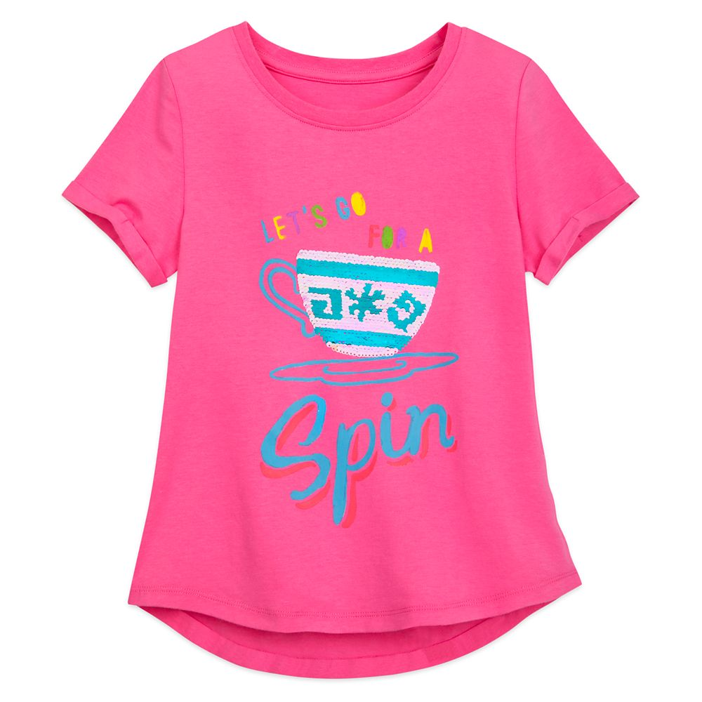 Mad Tea Party Reversible Sequin T-Shirt for Girls