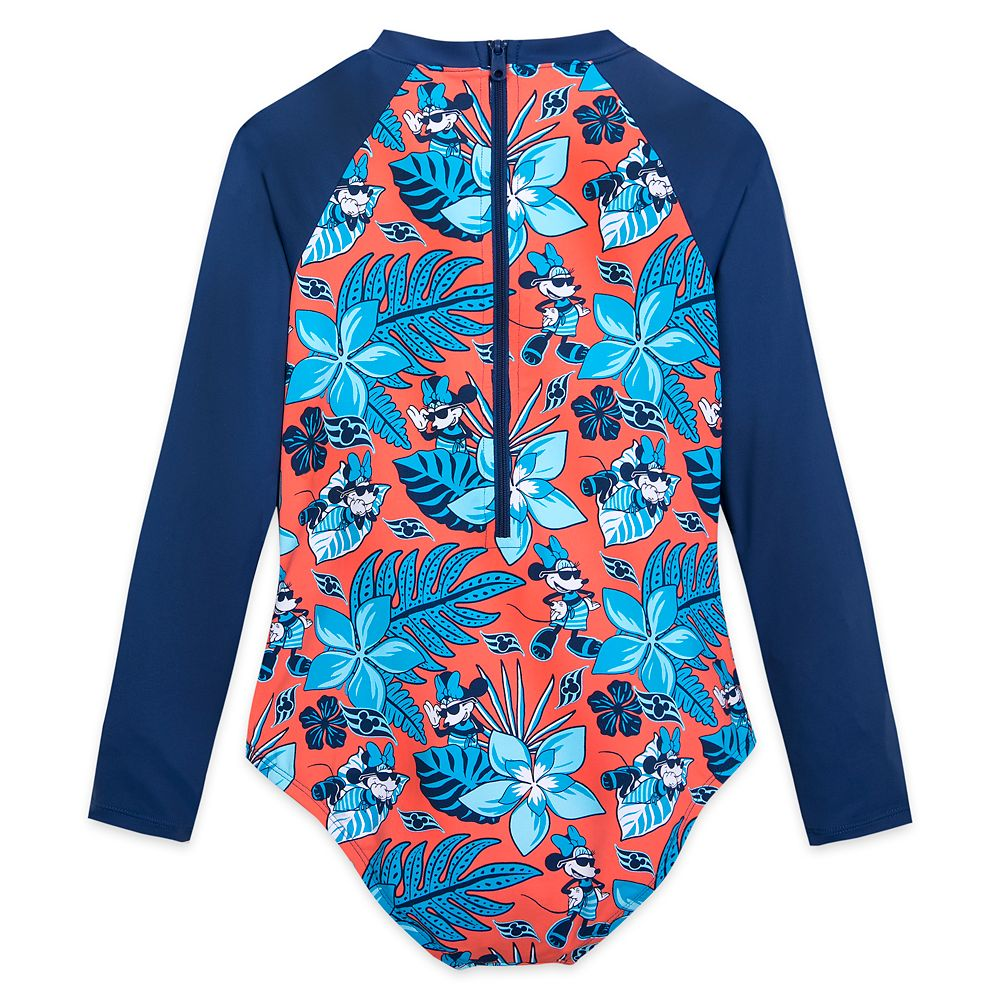 Minnie Mouse Rash Guard Swimsuit for Girls – Disney Cruise Line