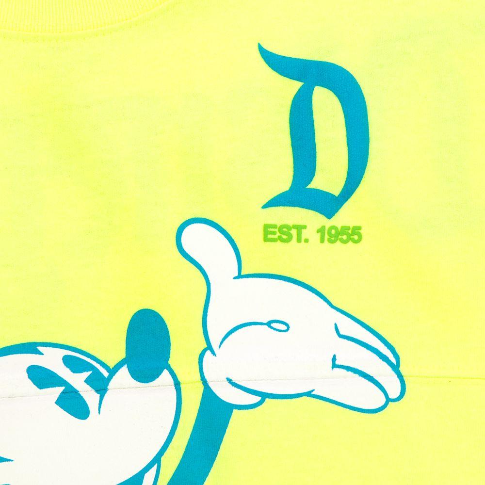 Mickey Mouse Neon Spirit Jersey for Kids – Disneyland – Yellow