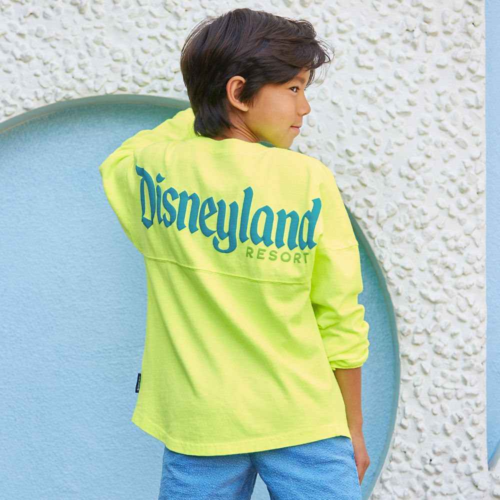 Mickey Mouse Neon Spirit Jersey for Kids – Disneyland – Yellow