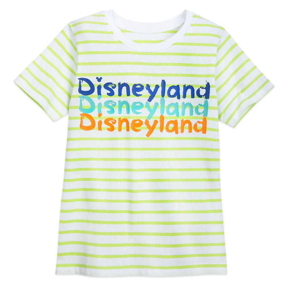 Disneyland Neon Striped T-Shirt for Kids