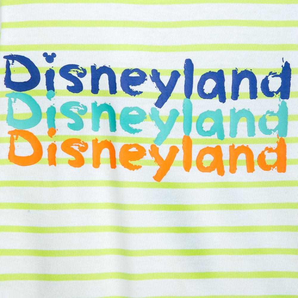 Disneyland Neon Striped T-Shirt for Kids