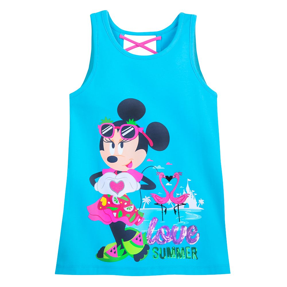 Minnie Mouse ''Love Summer'' Tank Top for Girls – Disneyland