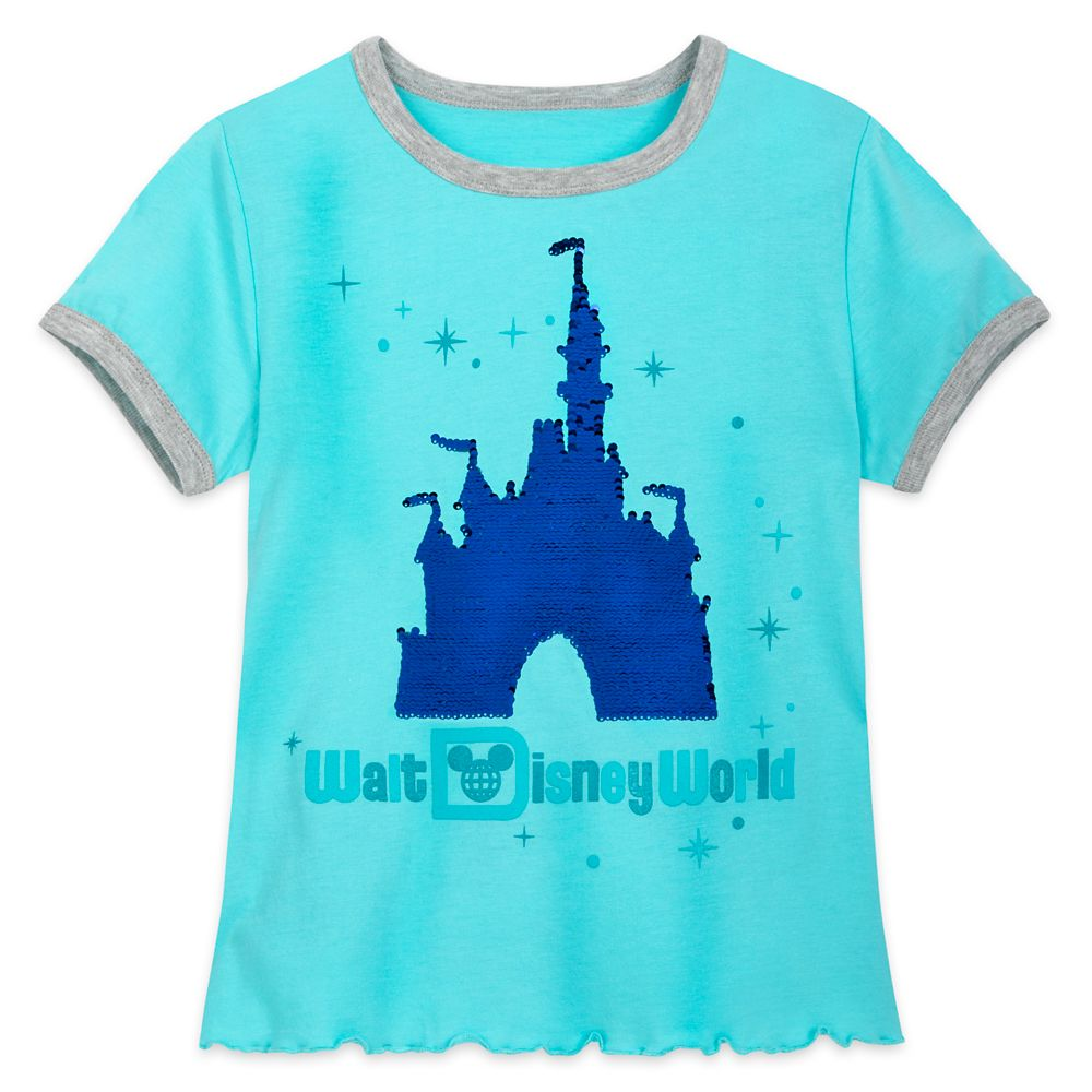 Cinderella Castle Reversible Sequin T-Shirt for Girls – Walt Disney World