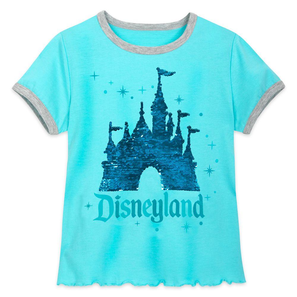 Sleeping Beauty Castle Reversible Sequin T-Shirt for Girls – Disneyland