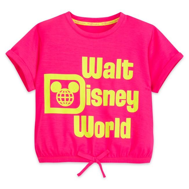 Walt Disney World Neon Cropped Top for Girls