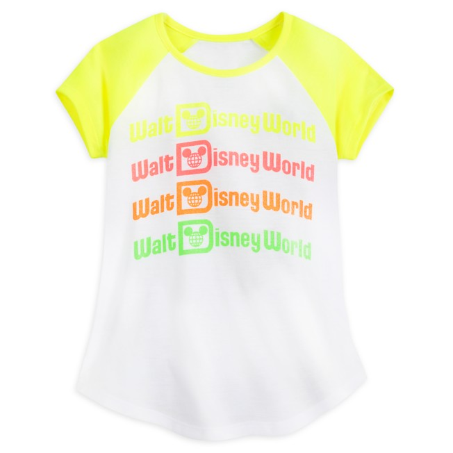 Walt Disney World Neon Raglan T-Shirt for Girls