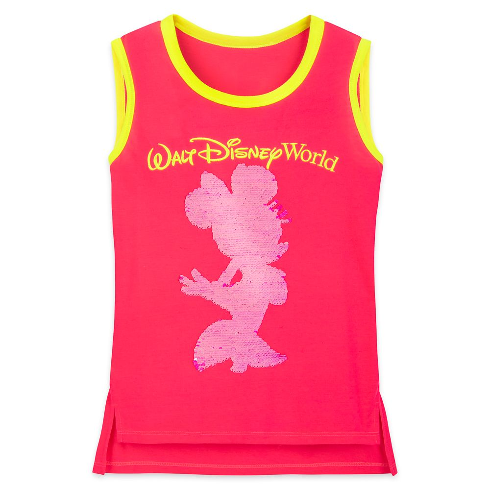 Minnie Mouse Reversible Sequin Neon Tank Top for Girls – Walt Disney World