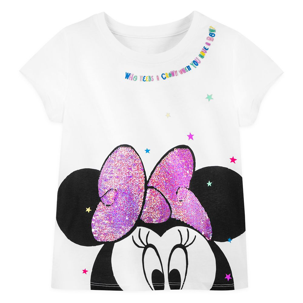 Minnie Mouse Reversible Sequin Bow T-Shirt for Girls – Disneyland