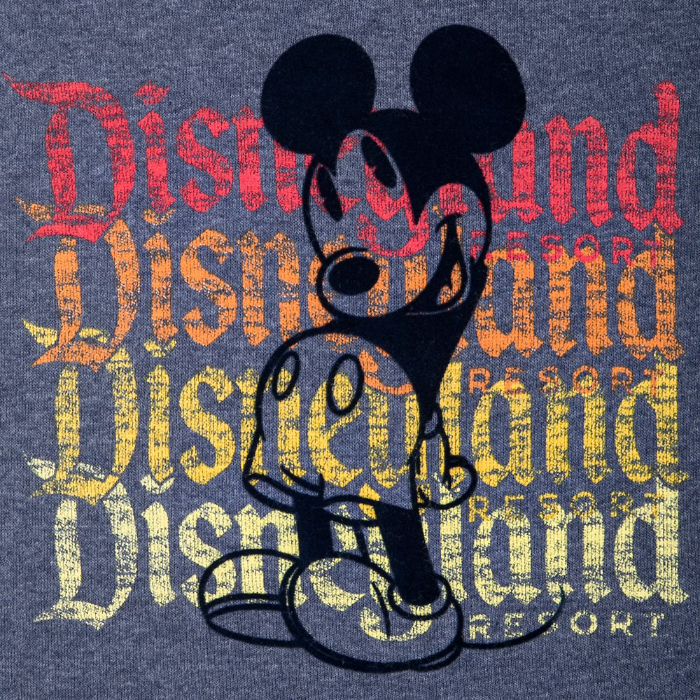 Mickey Mouse Flocked T-Shirt for Kids – Disneyland