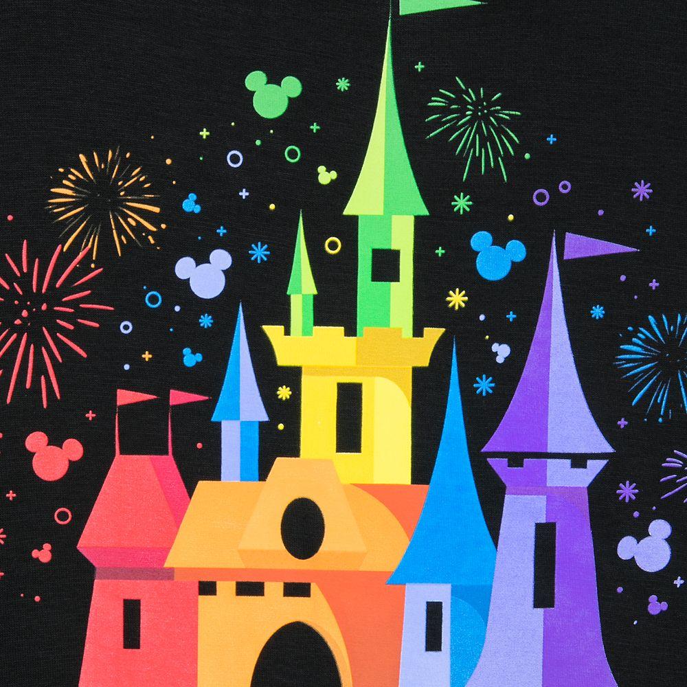 Rainbow Disney Collection Fantasyland Castle T-Shirt for Kids by Spirit Jersey – Walt Disney World