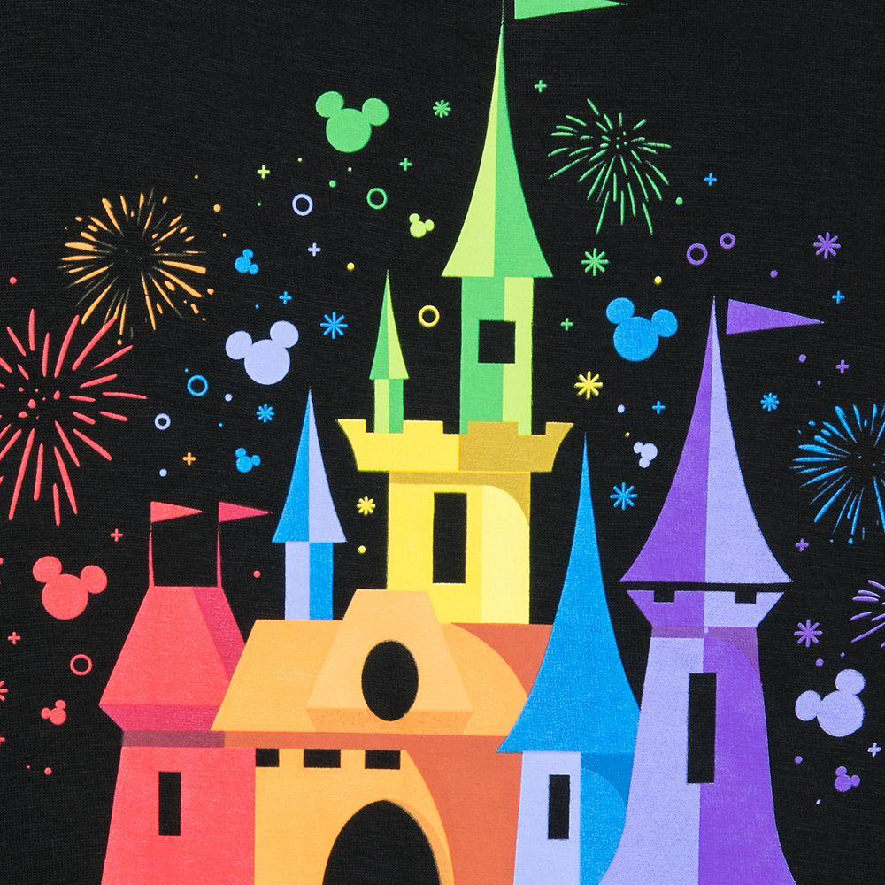 Rainbow Disney Collection Fantasyland Castle T-Shirt for Kids by Spirit Jersey – Disneyland