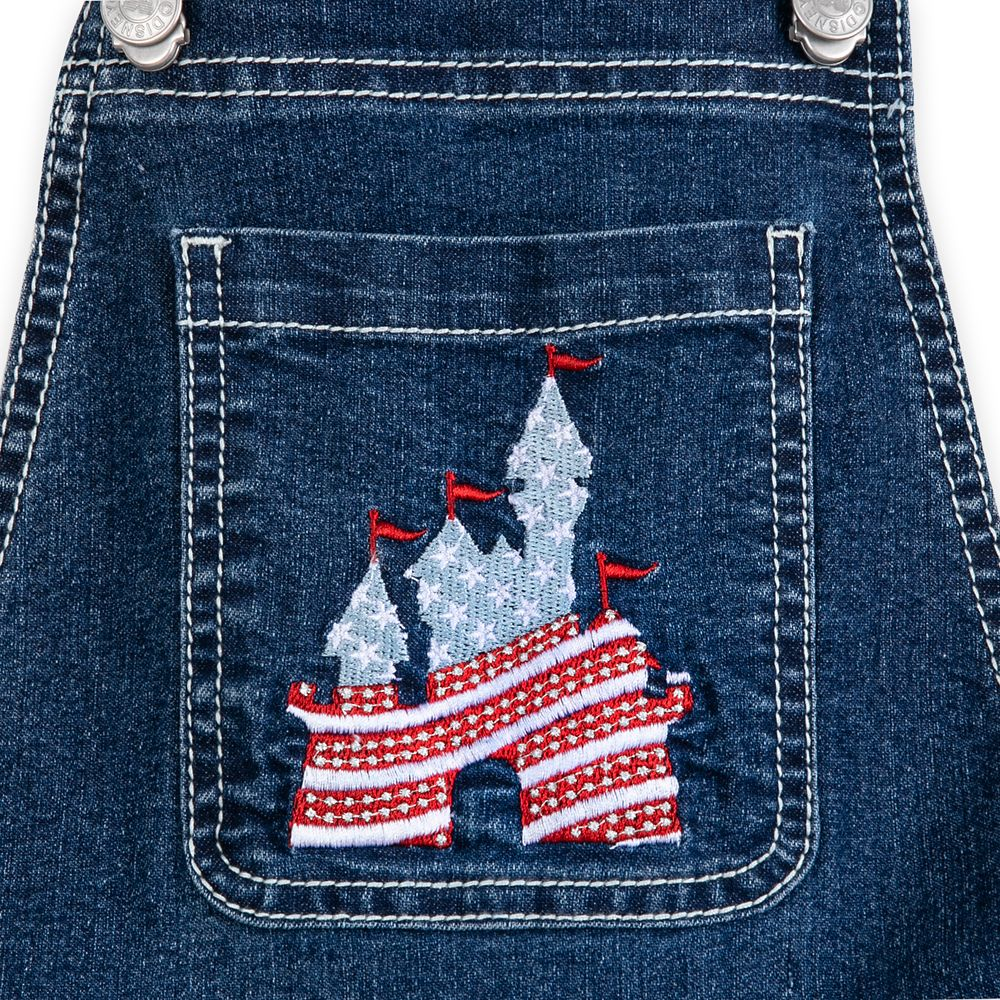 Fantasyland Castle Americana Overall Shorts for Girls