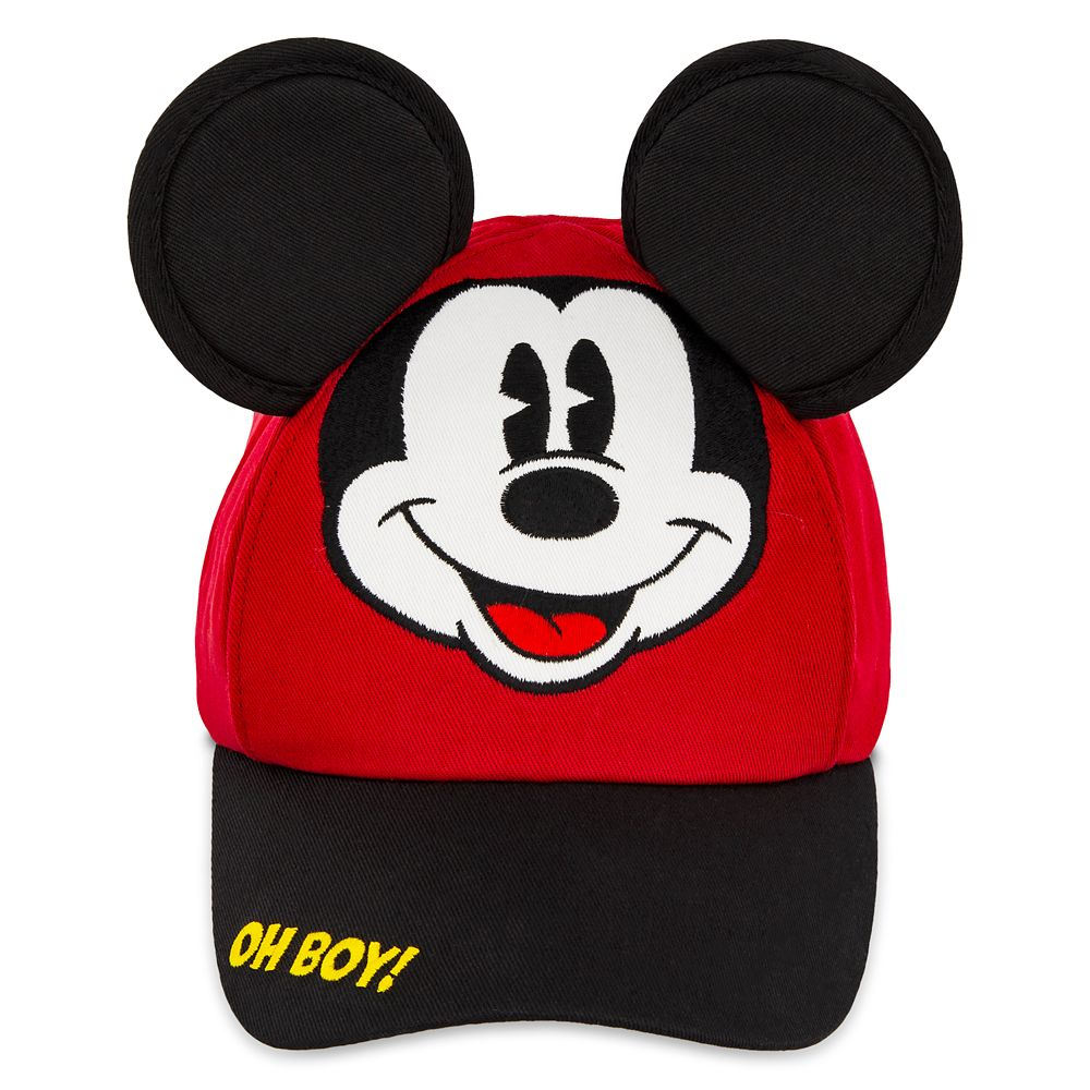 Disney Mickey Mouse All Over Military Hat with Red Bow Kids Junior Hat