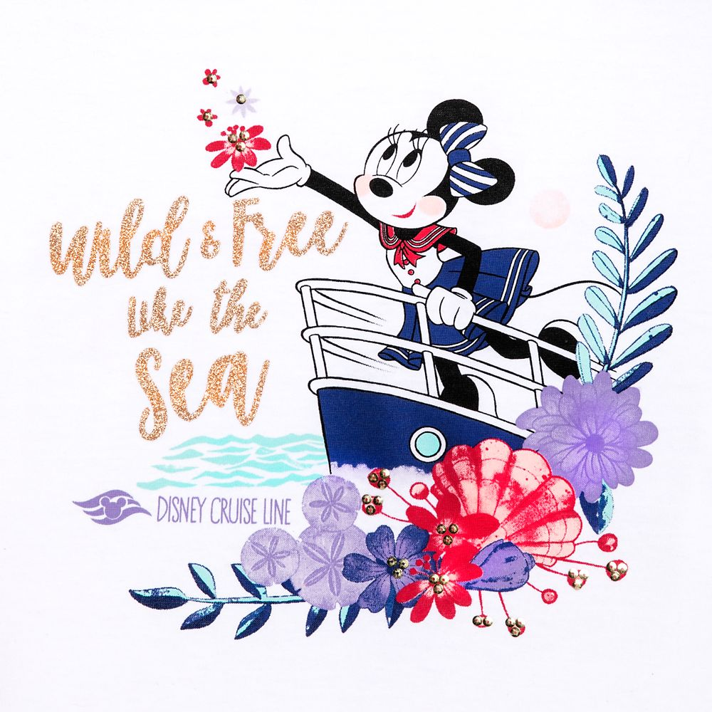 Minnie Mouse ''Wild and Free'' T-Shirt for Girls – Disney Cruise Line