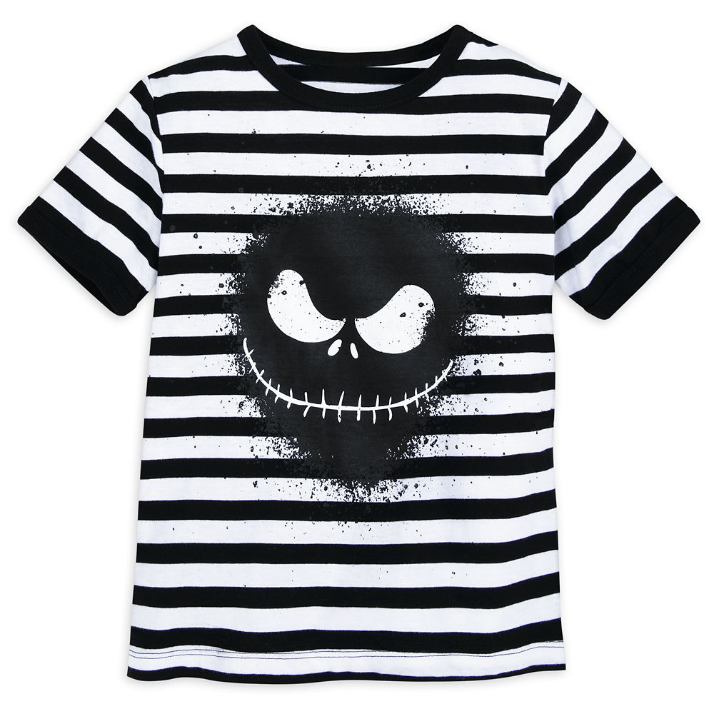 Jack Skellington Striped T-Shirt for Boys – The Nightmare Before Christmas