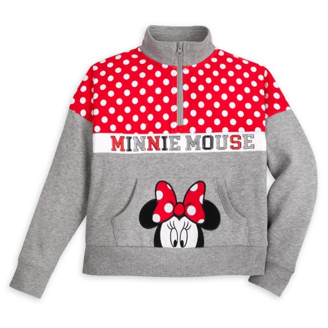 Minnie Mouse Zip Pullover for Girls – Walt Disney World