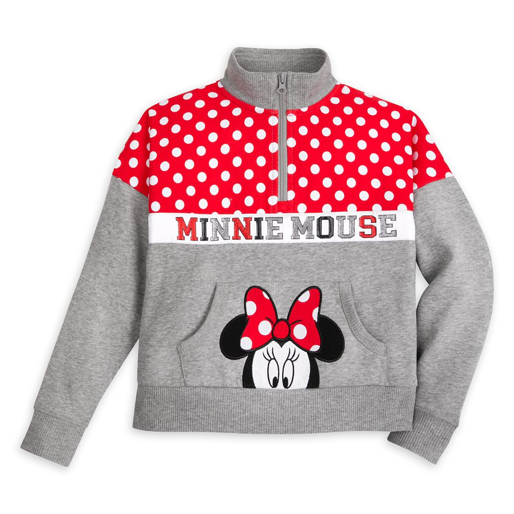 Minnie Mouse Zip Pullover for Girls ? Disneyland