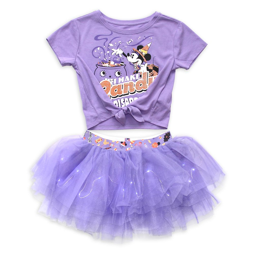 Minnie Mouse Halloween Top and Tutu Set for Girls