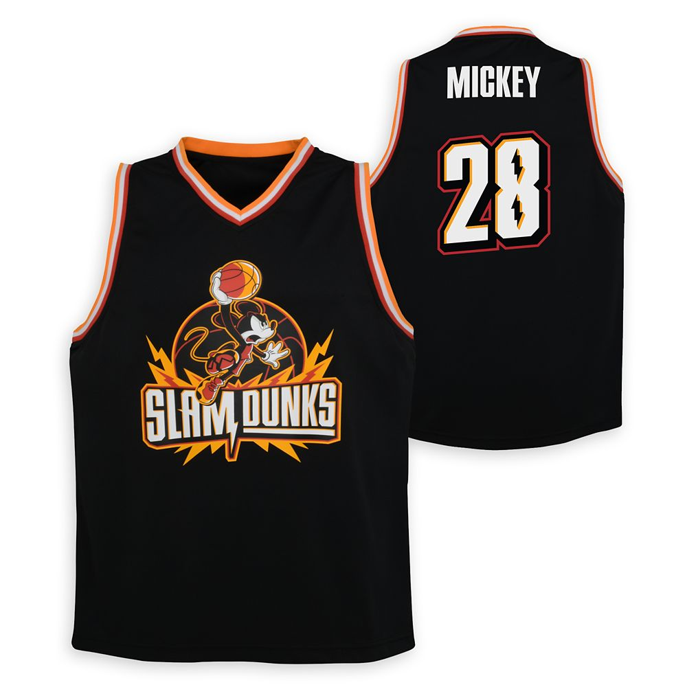 Mickey Mouse Slam Dunks Basketball Jersey for Kids – NBA Experience