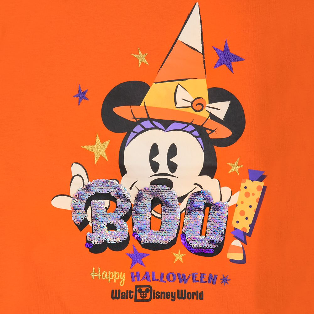 Minnie Mouse Halloween Reversible Sequin T-Shirt for Girls – Walt Disney World