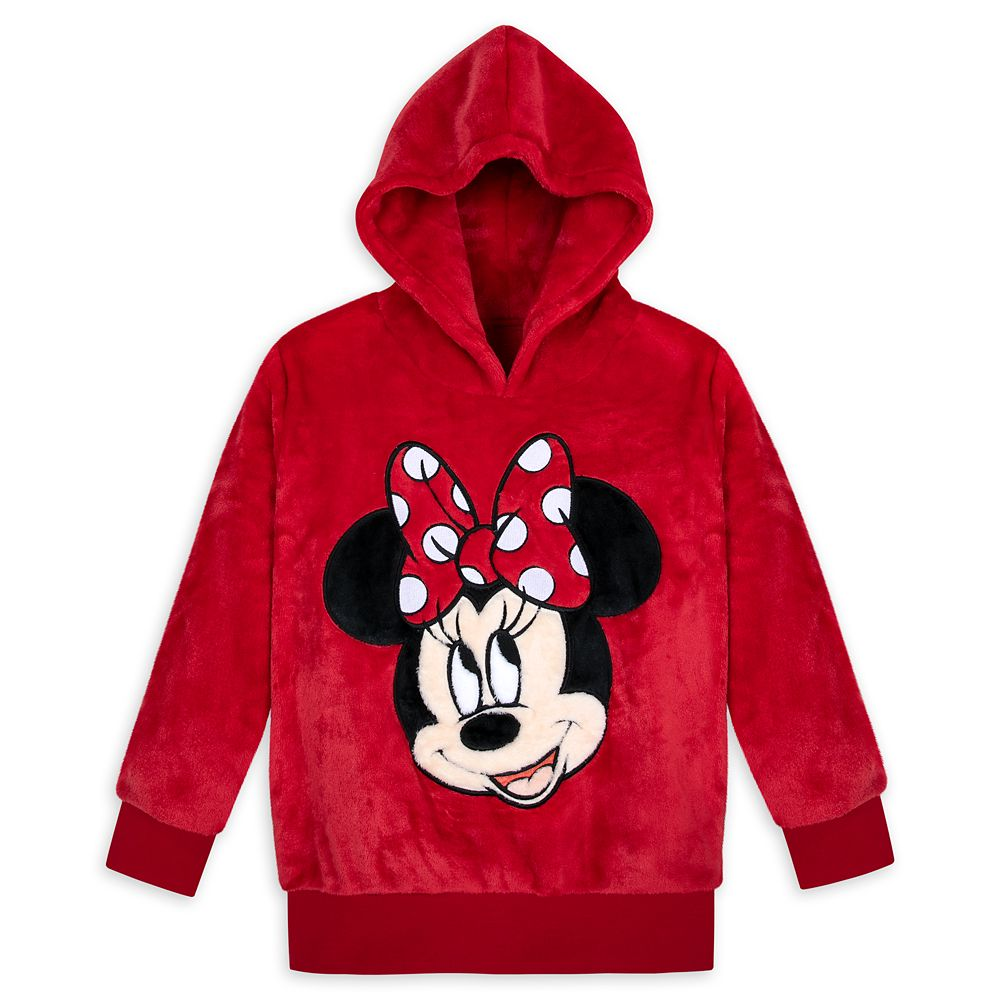 Minnie Mouse Pullover Fleece Hoodie for Kids