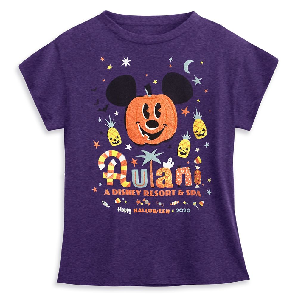 Mickey Mouse Pumpkin T-Shirt for Girls – Aulani, A Disney Resort & Spa