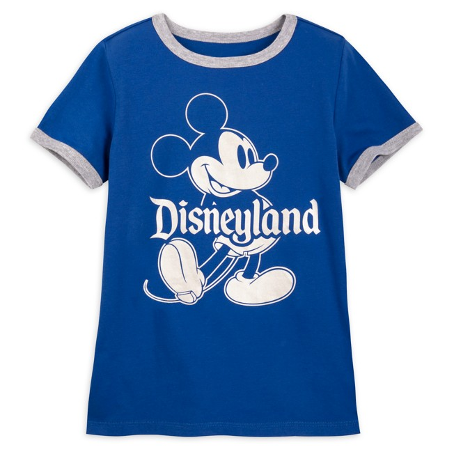Mickey Mouse Classic Ringer T-Shirt for Kids – Disneyland – Wishes Come True Blue