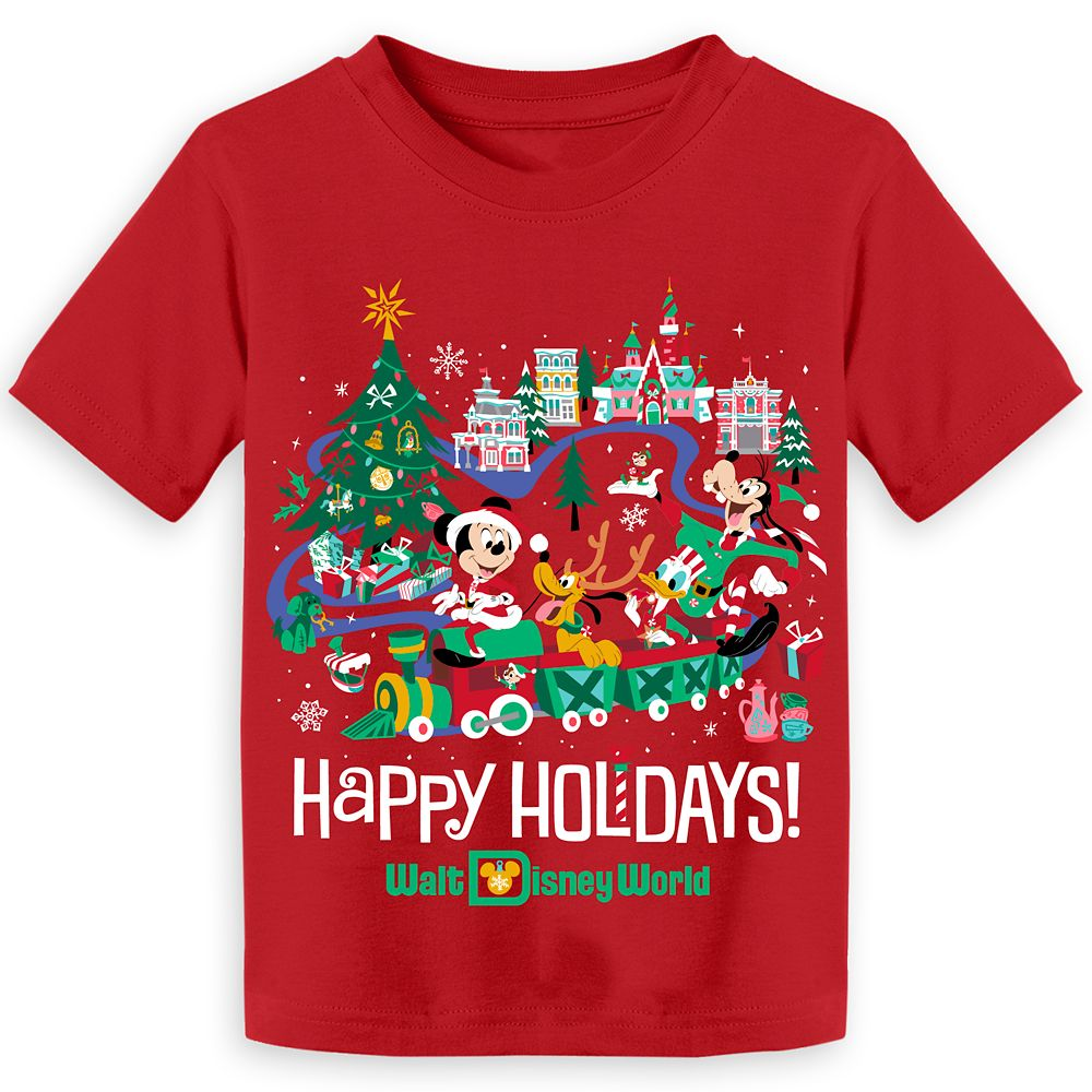 Mickey Mouse and Friends Holiday T-Shirt for Toddlers – Walt Disney World