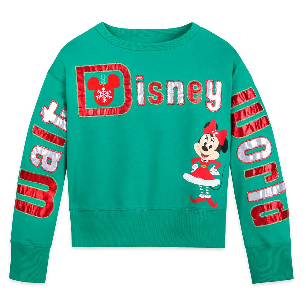 Minnie Mouse Holiday Pullover Top for Girls –Walt Disney World
