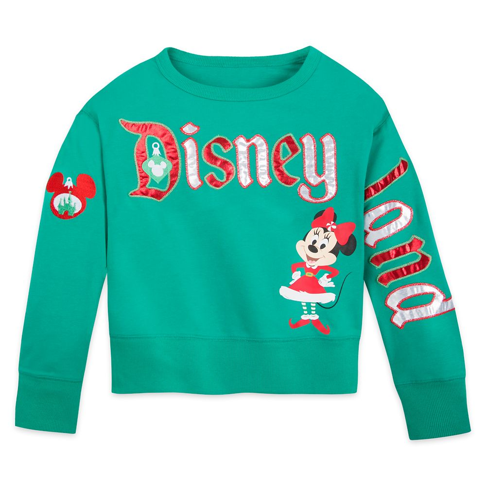 Minnie Mouse Holiday Pullover Top for Girls – Disneyland