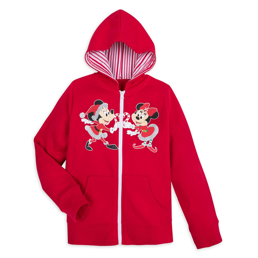 Mickey and Minnie Mouse Holiday Hoodie for Girls – Disneyland