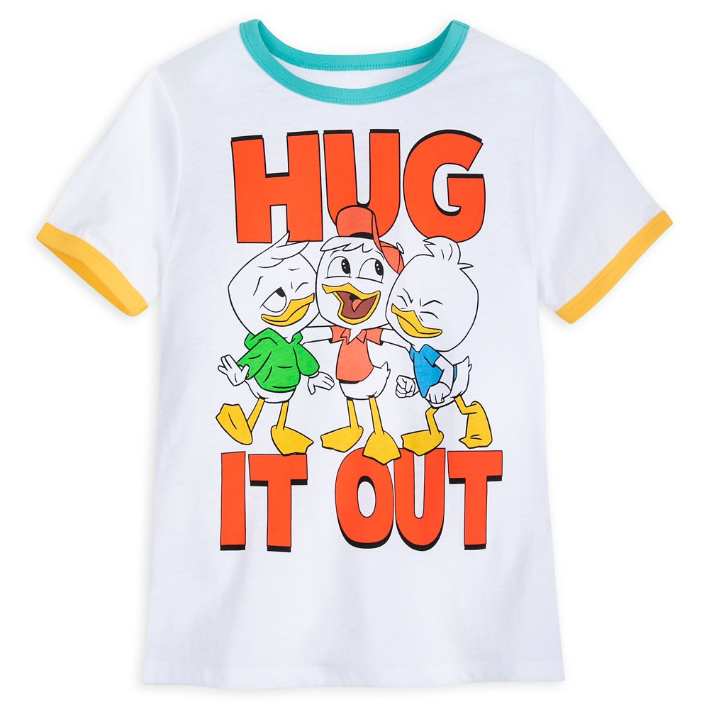 Huey, Dewey and Louie ''Hug It Out'' Ringer T-Shirt for Boys – DuckTales