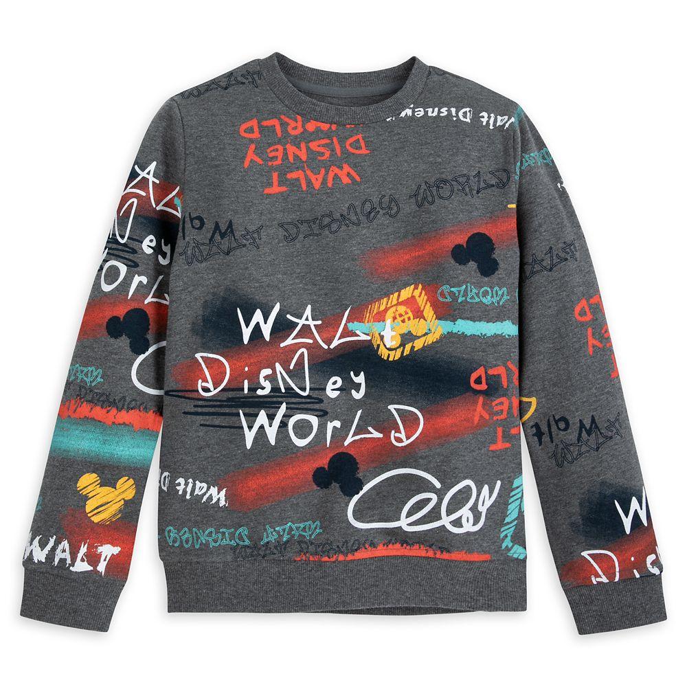 Walt Disney World Graffiti Art Pullover Sweatshirt for Boys