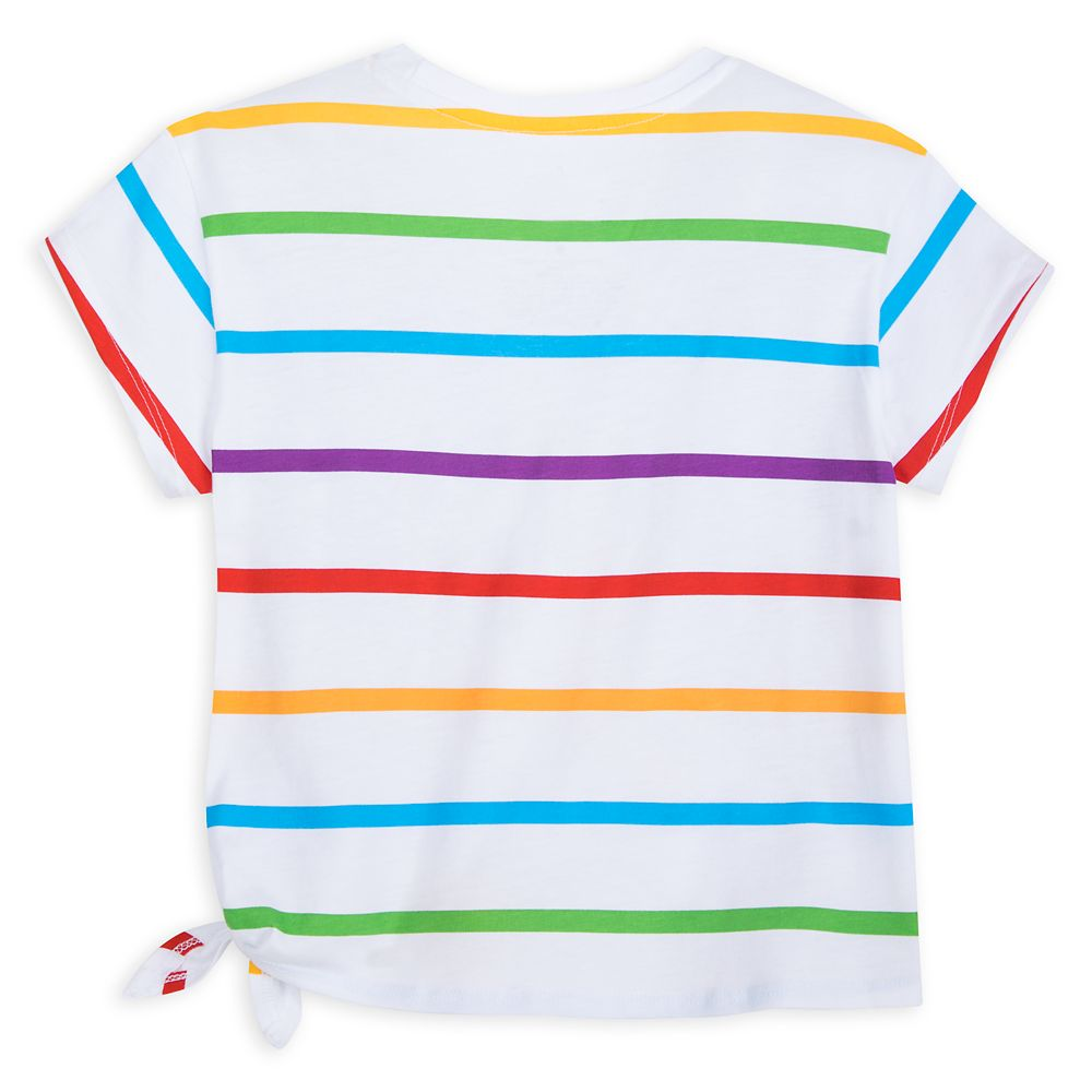 Mickey and Minnie Mouse Striped T-Shirt for Kids – Walt Disney World