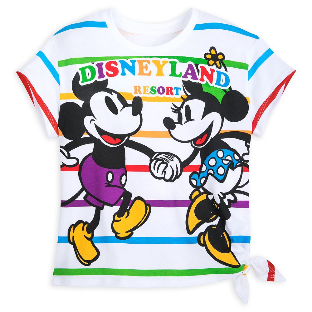Mickey and Minnie Mouse Striped T-Shirt for Kids – Disneyland