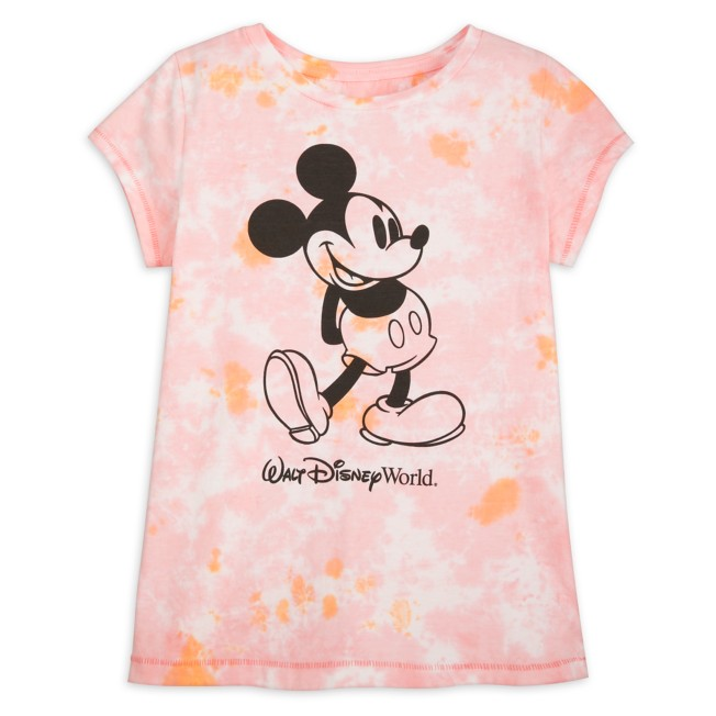 Mickey Mouse Tie-Dye T-Shirt for Girls – Walt Disney World – Pink