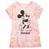 Mickey Mouse Tie-Dye T-Shirt for Girls – Disneyland – Pink