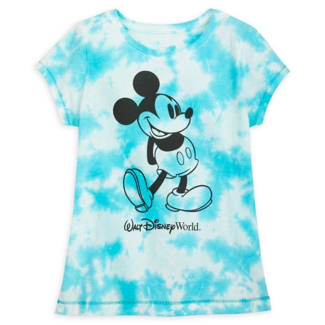 Mickey Mouse Tie-Dye T-Shirt for Girls – Walt Disney World – Blue
