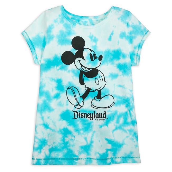 Mickey Mouse Tie-Dye T-Shirt for Girls – Disneyland – Blue
