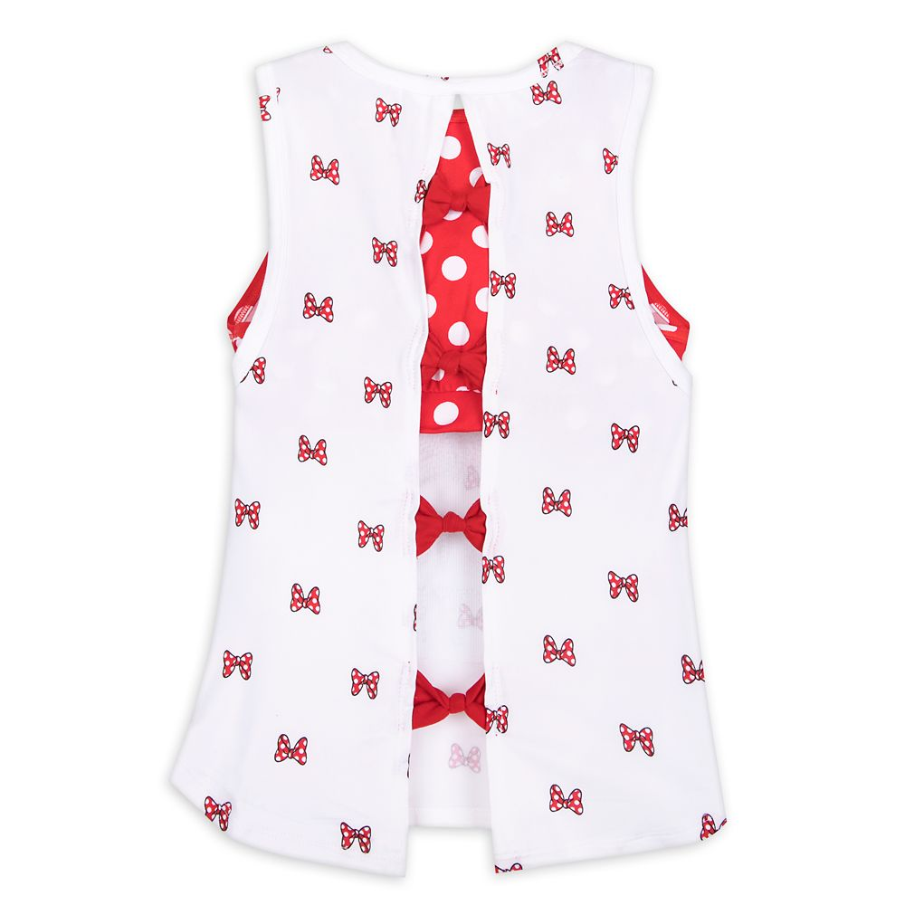 Minnie Mouse ''Put a Bow on It'' Layered Tank Top for Girls