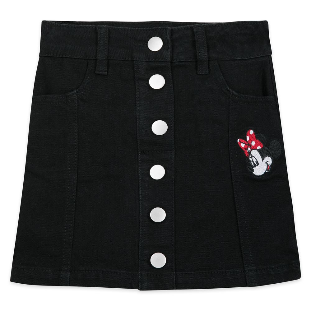 Minnie Mouse Black Denim Skirt for Girls