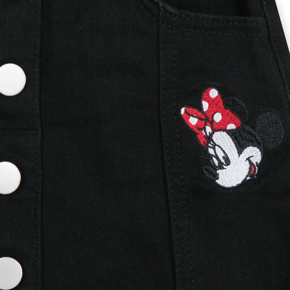 Minnie Mouse Black Denim Skirt for Girls
