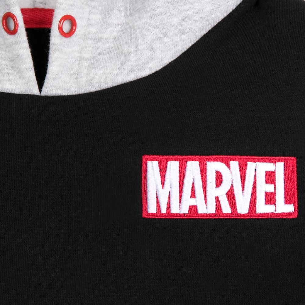 Marvel Logo Short Sleeve Fashion Hoodie for Kids by Our Universe